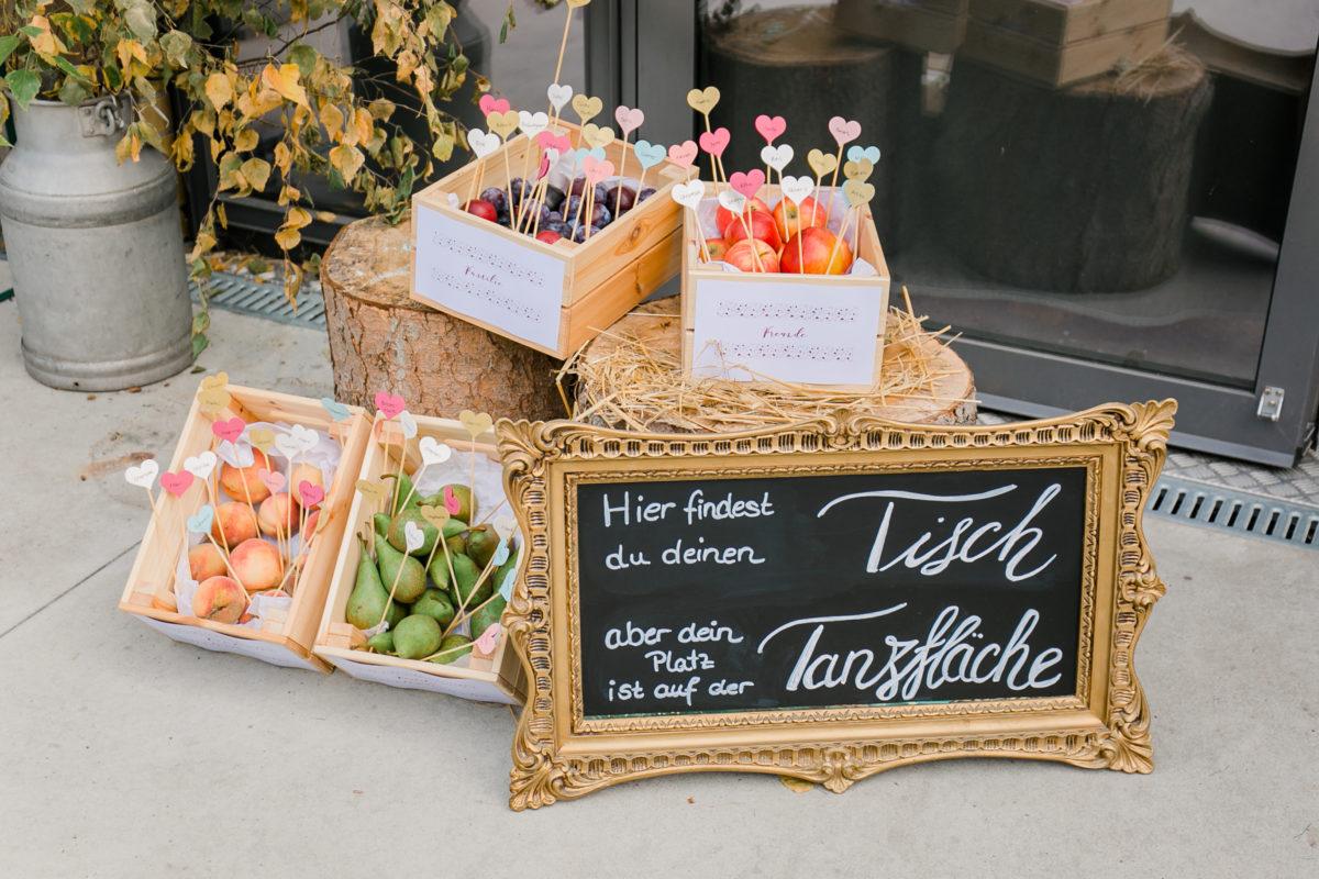 Hochzeitsdekoration und Tischdekoration.