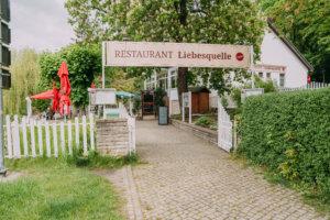 Liebesquelle Woltersdorf - Eingang