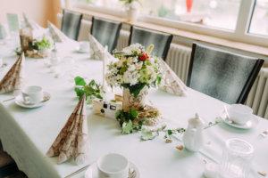 Liebesquelle Woltersdorf - Tischdekoration